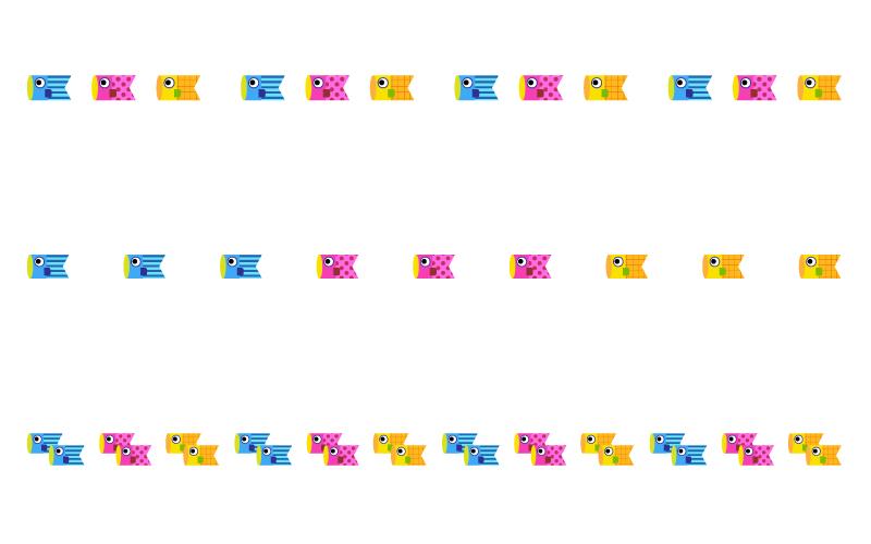 かわいい鯉のぼりの罫線イラスト02