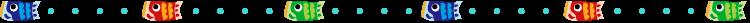 鯉のぼりと点線の罫線イラスト