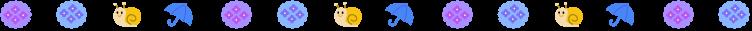 梅雨・カタツムリと紫陽花の罫線イラスト