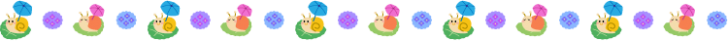 カタツムリと紫陽花の梅雨の罫線イラスト02