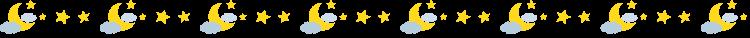 三日月と星の罫線イラスト