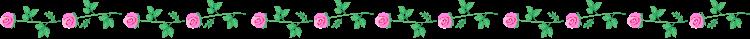 バラ(薔薇)の罫線イラスト04