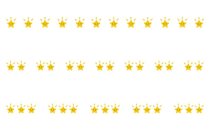 かわいいスマイルの星の罫線イラスト02