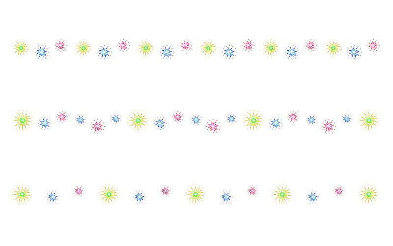 花火の罫線イラスト02