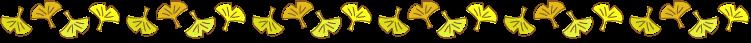 イチョウ(銀杏)の罫線イラスト