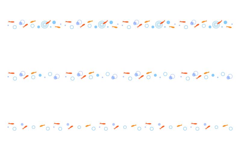 金魚の罫線イラスト