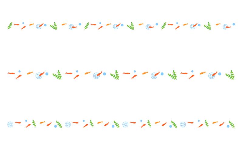 金魚の罫線イラスト02