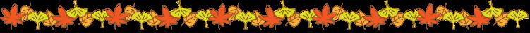 紅葉や銀杏の罫線イラスト