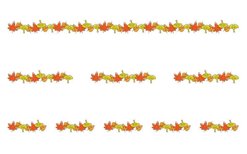 紅葉や銀杏の罫線イラスト 無料の線 ライン素材 飾り罫線イラスト Com