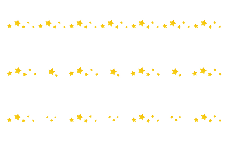 星の罫線イラスト04