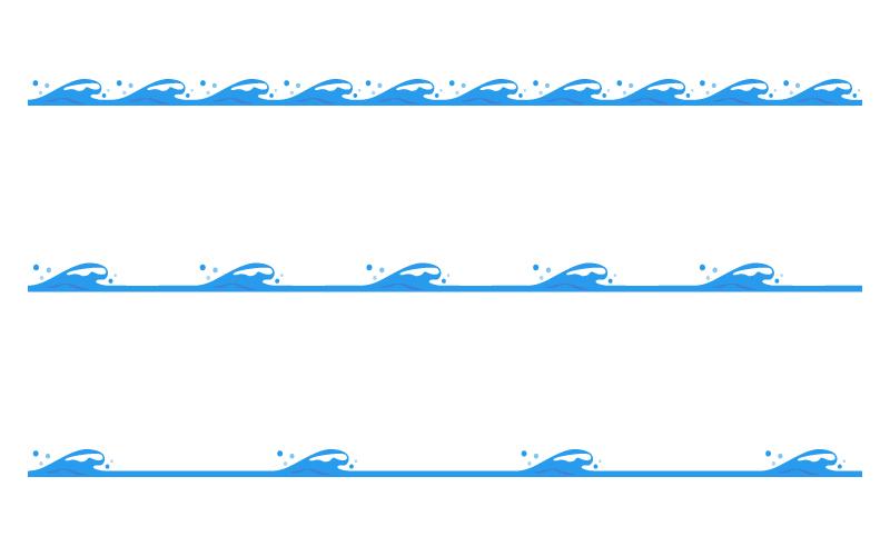 波の罫線イラスト